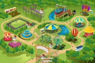 map of parks amusement park map stock illustration carnival map ideas