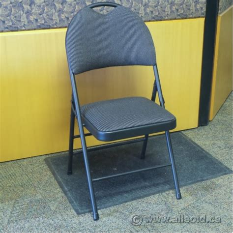 black fabric folding chairs gsc deluxe black fabric folding chair allsold ca buy
