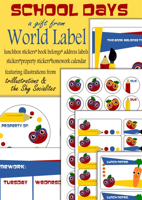 label templates for school books 7 best images of free printable school book label school