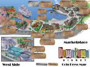 coin press map and listing downtown disney theme park