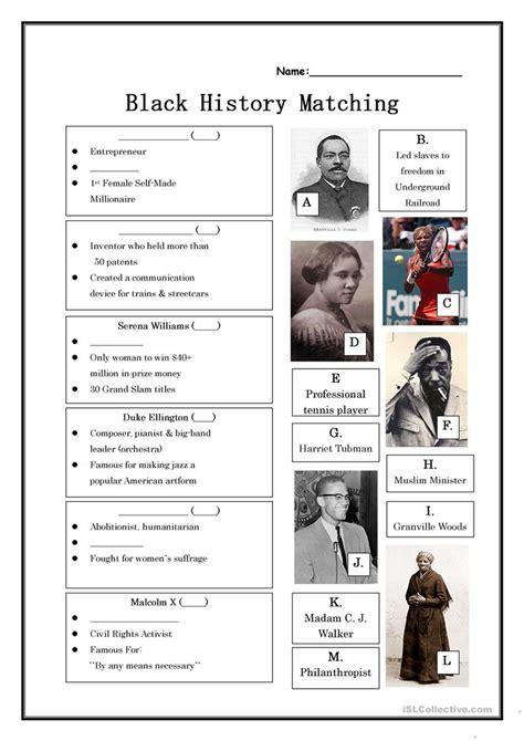 printable worksheets black history month black history month worksheet free esl printable