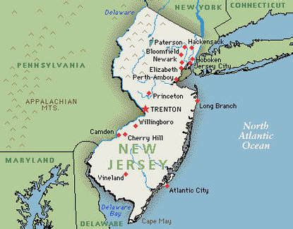map of new jersey in colonial times location new jersey colony
