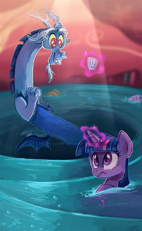 discord you are unauthorized that tiny glass of water please my little pony
