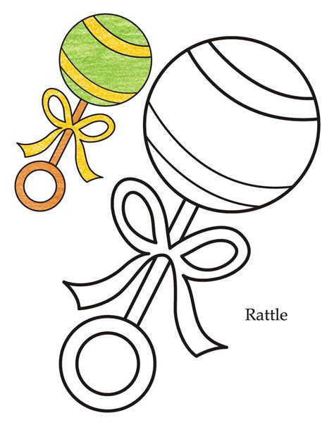 0 Level Coloring Pages by 0 Level Rattle Coloring Page Free 0 Level