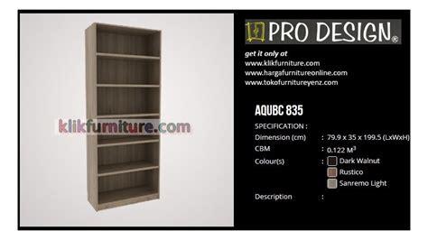 Rak Buku Merk Olympic aqubc 835 pro design lemari rak buku promo