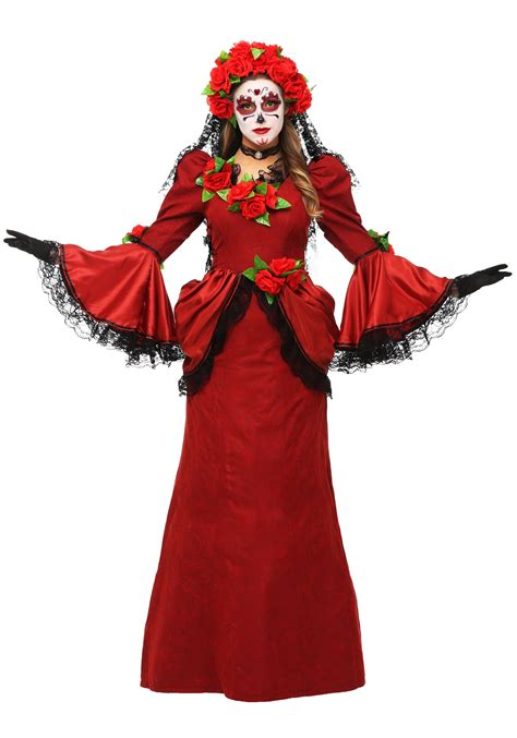 halloween costumes women s plus size day of the dead costume