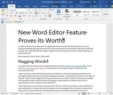 Office Word Editor New Word Editor Feature Proves Its Worth Petri