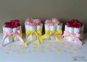 sweet and simple baby shower centerpieces just a