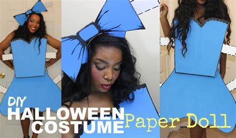 How To Make A Paper Costume - easy diy costume paper doll