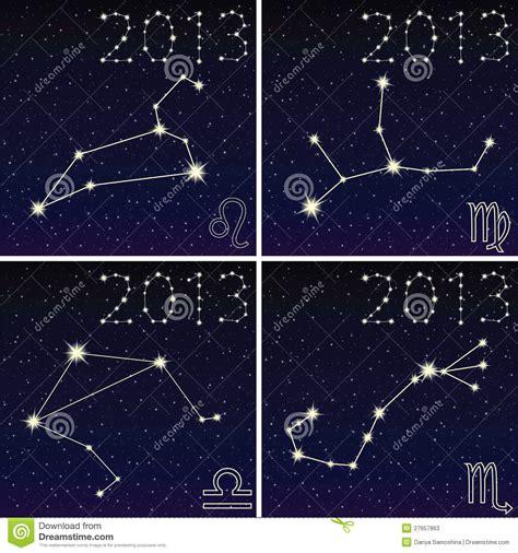 constellation of leo virgo libra scorpius stock photos