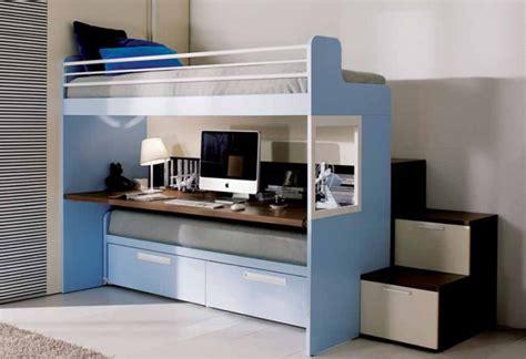 da letto con scrivania letto a merlino con scrivania sotto