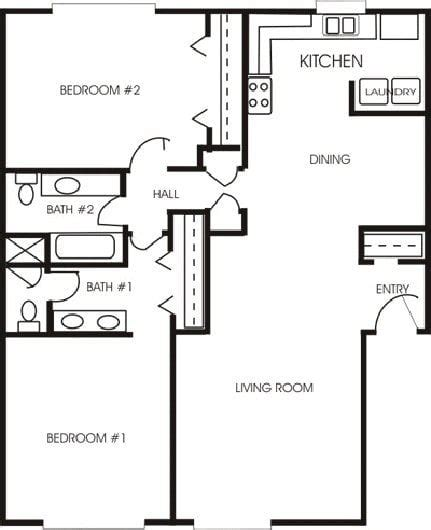 two bedroom two bath house plans new 2 bedrooms 2 bathrooms house plans new home plans design