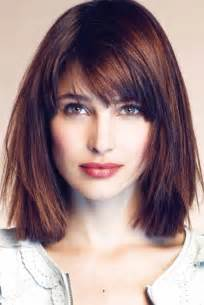 cut and style side bangs hair side swept bangs for a square face women hairstyles