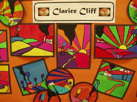 ideas for ks2 art club clarice cliff display teaching ideas