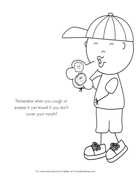 preschool germ coloring pages no more spreading germs coloring pages for kids sick day