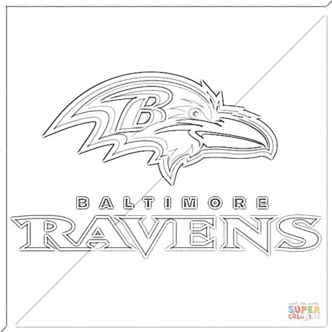Baltimore Ravens Coloring Page Supercoloring Com Ravens Coloring Pages