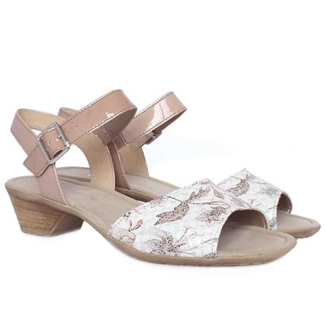 white dress sandals gabor picasso s modern dressy low heel sandals in