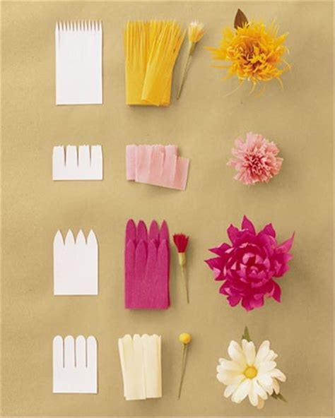 How To Make Paper Boutonniere - different flower cuts pearltrees