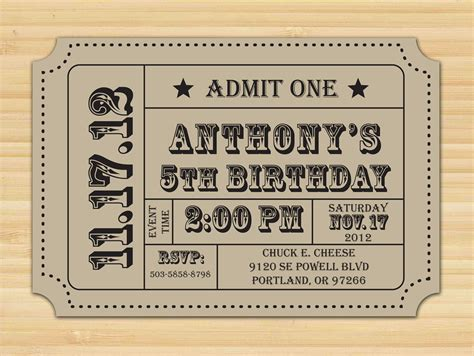 ticket stub invitation template search results for ticket template pdf calendar 2015