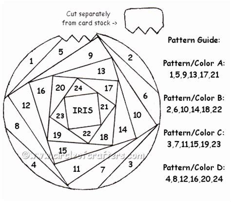 Folded Paper Ornament Pattern - ornament iris folding pattern visit me at my
