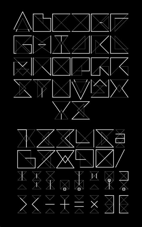 geometric pattern font 372 best 03 geometric typeface images on pinterest