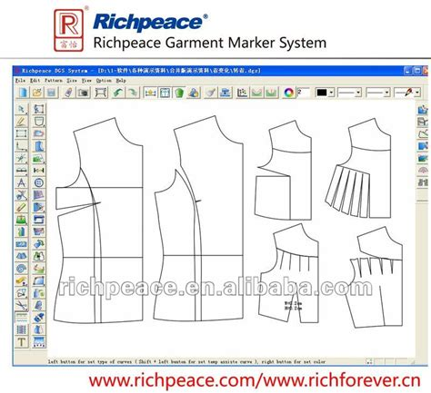 pattern design software online richpeace garment cad system buy garment garment hanging