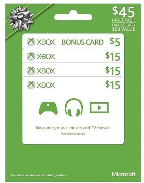 Xbox Gift Card 50 - microsoft xbox gift cards 50 value for 40 50 bestbuy com