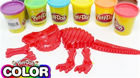 Doh Colors Dinosaurs 1 learn colors number play doh with dinosaur color molds