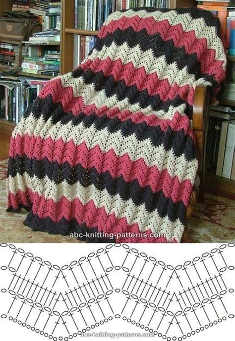 written zig zag crochet pattern couverture avec le point zig zag couvertures b 233 b 233
