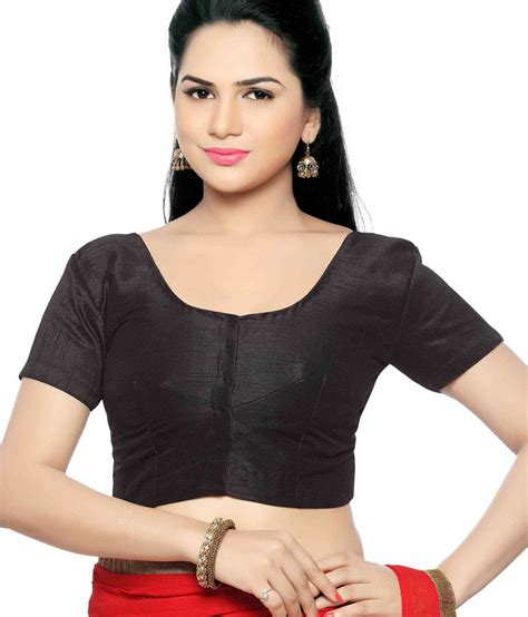 Jedar Blouse 2 N1 studio shringaar black poly silk basic blouse buy