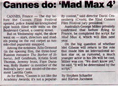 usa today life section mad max 4 fury road news archive 1998 to 2000