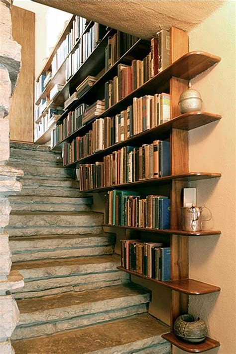 staircase shelves staircase bookshelf diy bookshelves 18 creative ideas