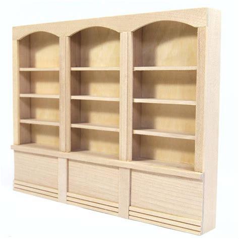 dolls house shop shelf unit unfinished wood
