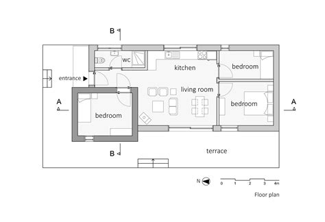 Floor Plans With Dimensions Gallery Of Barbaros House Onurcan 199 Akır 16