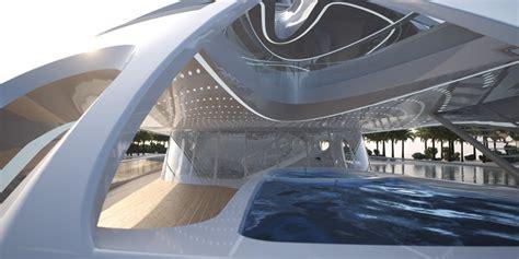 designboom zaha hadid zaha hadid designs 128m superyacht for blohm voss
