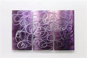 Purple Wall Decor by Purple Abstract Metal Wall Modern Metal Painting Home