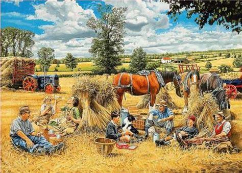 Jigsaw Puzzle 1000 Pcs The Harvest Vintage harvest picnic jigsaw by trevor mitchell