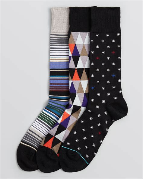 Printed Socks paul smith printed socks pack of 3 for lyst