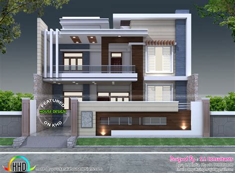 home design contemporary style 35 x 60 decorative style contemporary home kerala home
