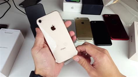iphone 8 unboxing and comparison to iphone 6 6s 7 7 plus