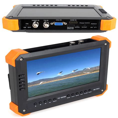 Monitor Lcd Hdmi x41t 7 quot tft lcd monitor hd tvi hdmi vga cvbs test tester 12v out ebay