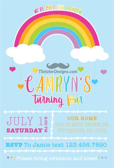 rainbow invitation tsetzler designs