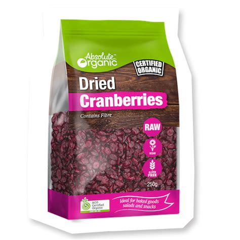 Dried Cranberries 250gr dried cranberries w apple concentrate 250g absolute organic