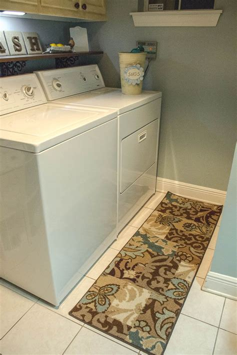 Laundry Room Runner Rugs Simple Laundry Room Brown Laundry Room Runner Rug White Wooden Floating Wall Shelf