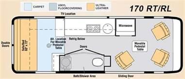 type b motorhome floor plans class b motorhome floor plan class b motorhomes floor plans rv cing pinterest