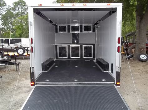 Cer Trailer Interior Ideas by Enclosed Car Hauler Race Ready With Finished Interior And