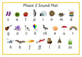 phase 2 word mat phase 2 phonics sound mat word mat phonemes and word