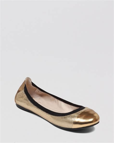 vince camuto shoes flats vince camuto cap toe ballet flats elisee in gold copper
