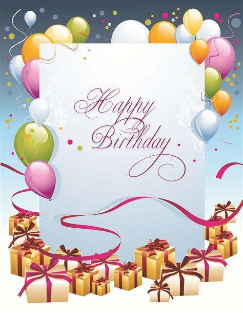 Best Free Graphic Design happy birthday postcard 03 vector free vector 4vector