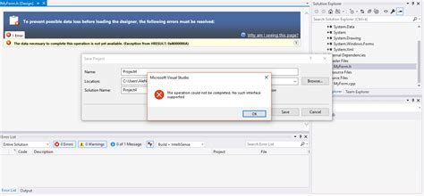 design web form in visual studio 2010 c clr forms application issues can t save because quot no